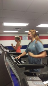 Students enjoying the Fitness Center