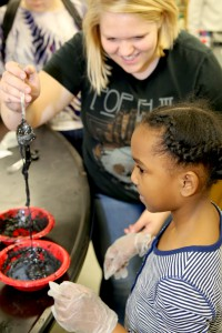 Magnetic slime demonstrated at Science Expo